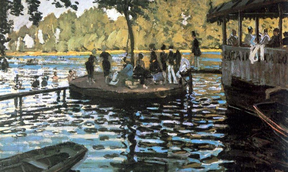 """""""Bain à la Grenouillère"""" de Claude Monet"""