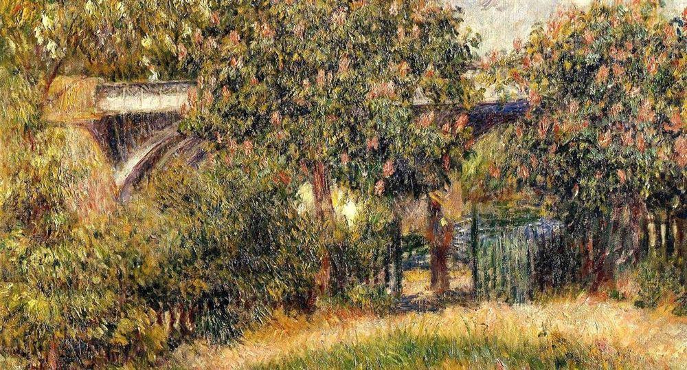 """""""Pont du chemin de fer à Chatou""""- Renoir"""