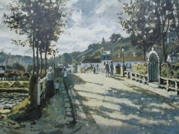 """""""Le pont de Bougival"""" de Monet"""