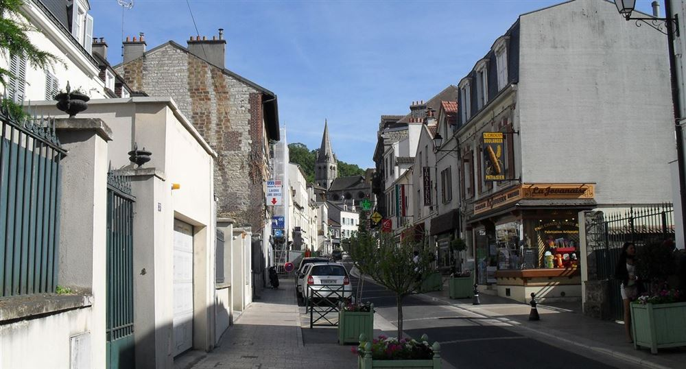 The city centre of Bougival