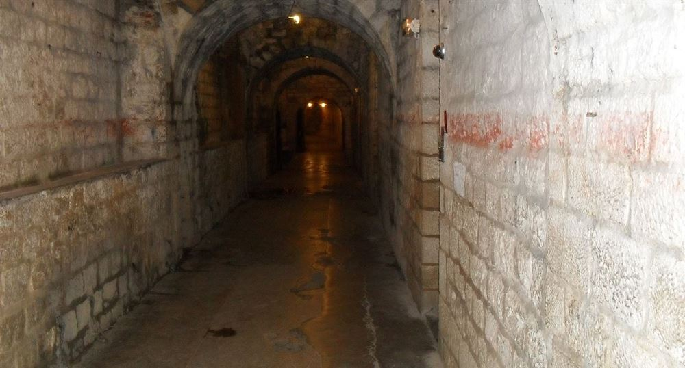 The corridors of the fort of Douaumont