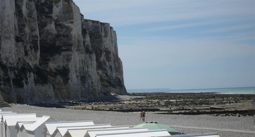 The beach and cliffs