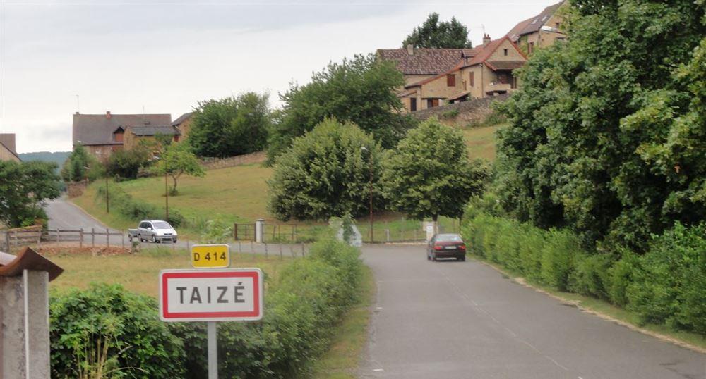 Entrance to the village of Taizé