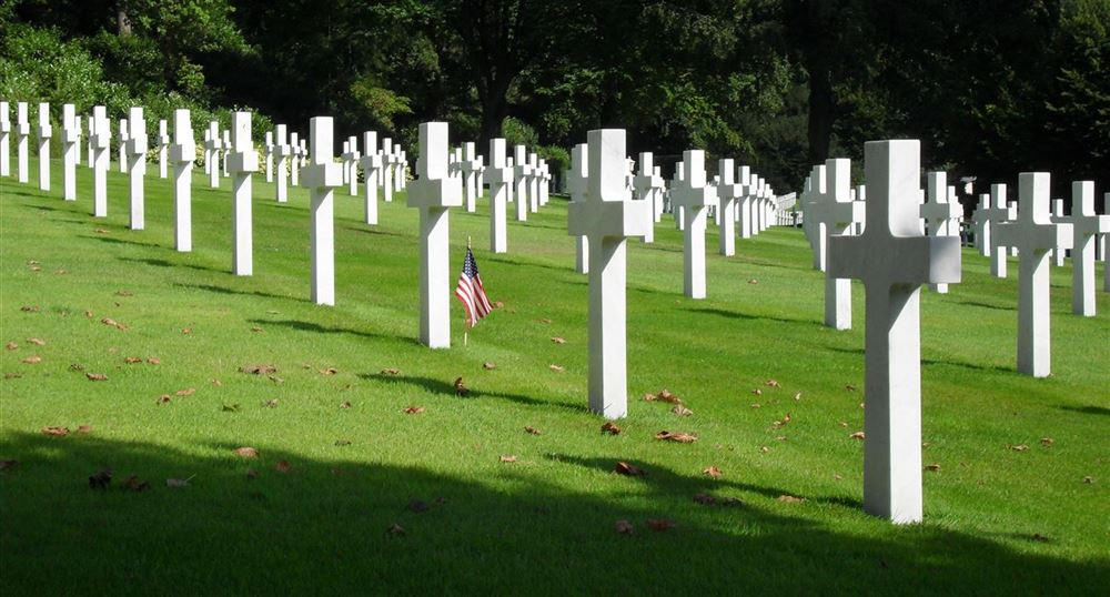 The graves of American soldiers