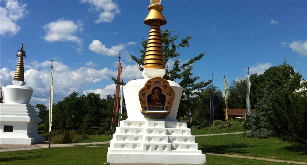 Vue des stupas