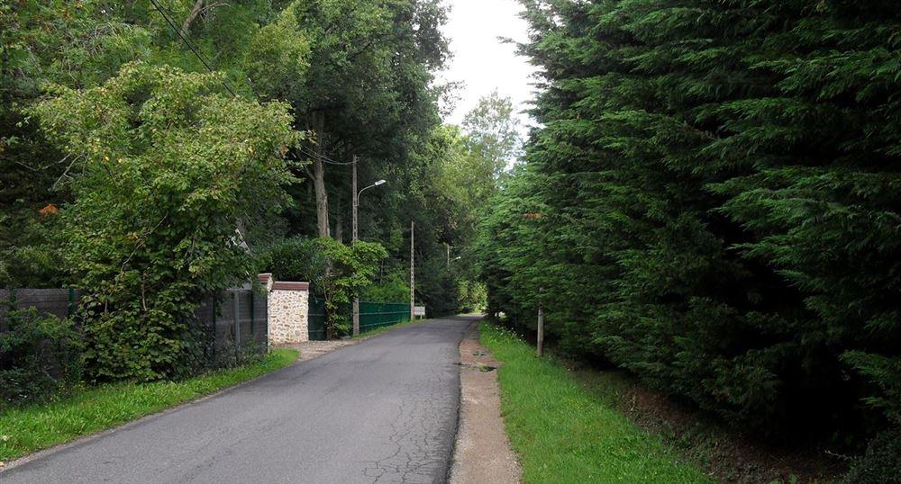 Le chemin longe la route
