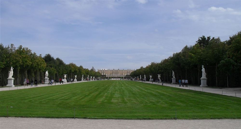 View of the Palace of Versailles