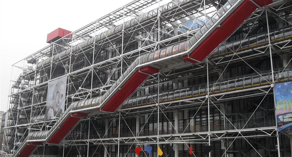 Centre Pompidou from the outside