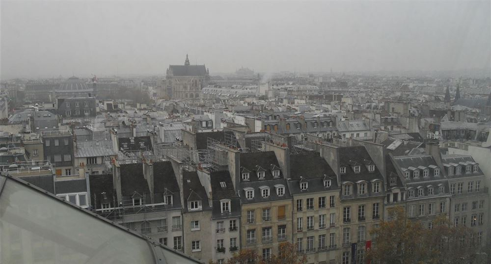 View of Paris from the top of the museum
