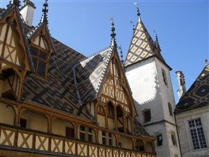 Visit of Beaune in Burgundy, the Hotel Dieu, the cellars