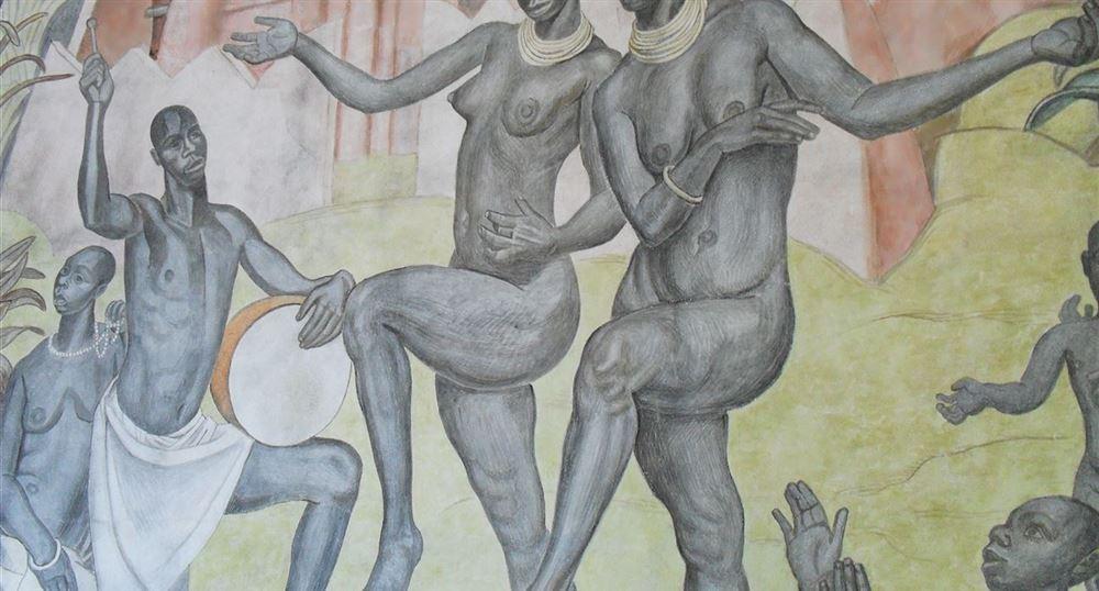 Fresques du salon Paul Reynaud