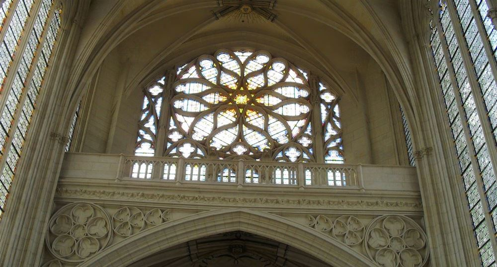 Inside of the Sainte-Chapelle of the Château of Vincennes
