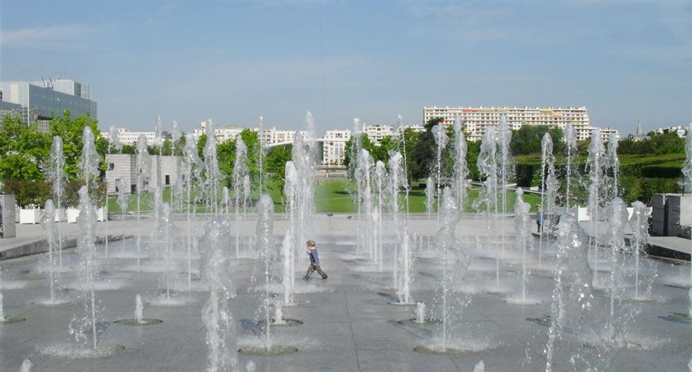 The fountains of the André Citroën park