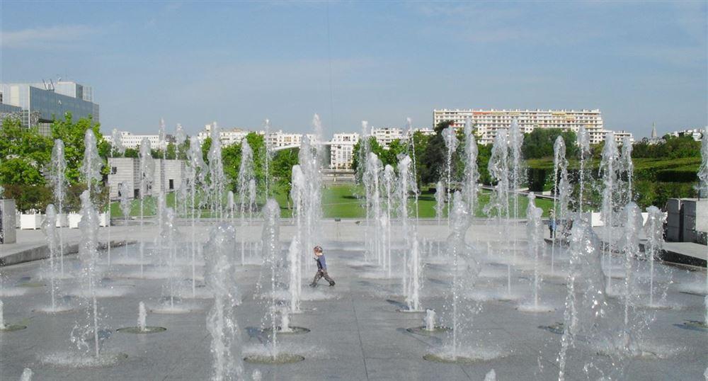 Les fontaines du parc André Citroën