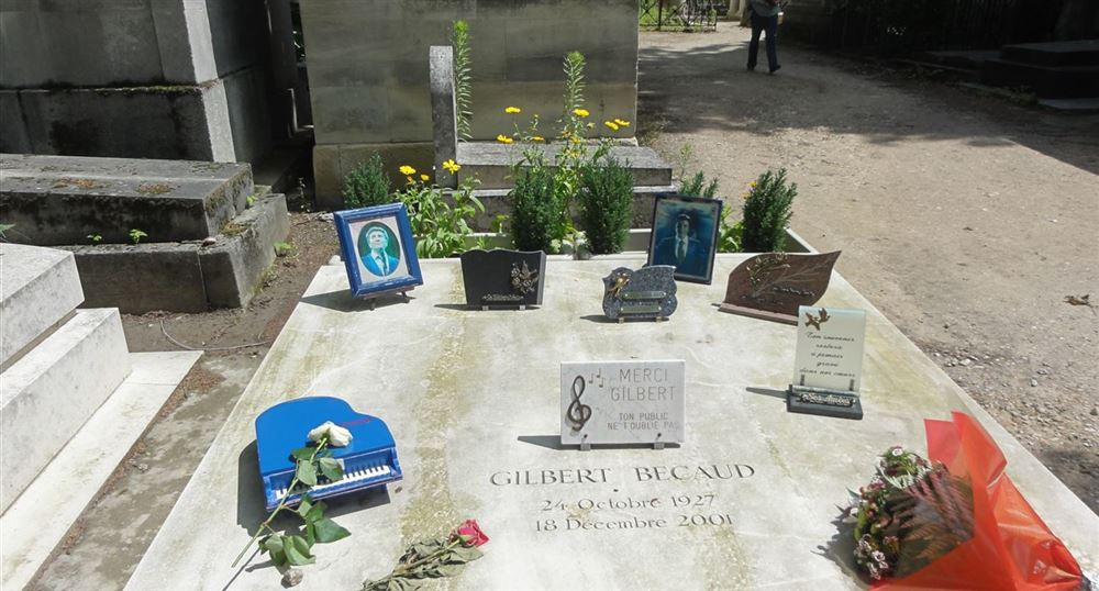 La tombe de Gilbert Bécaud
