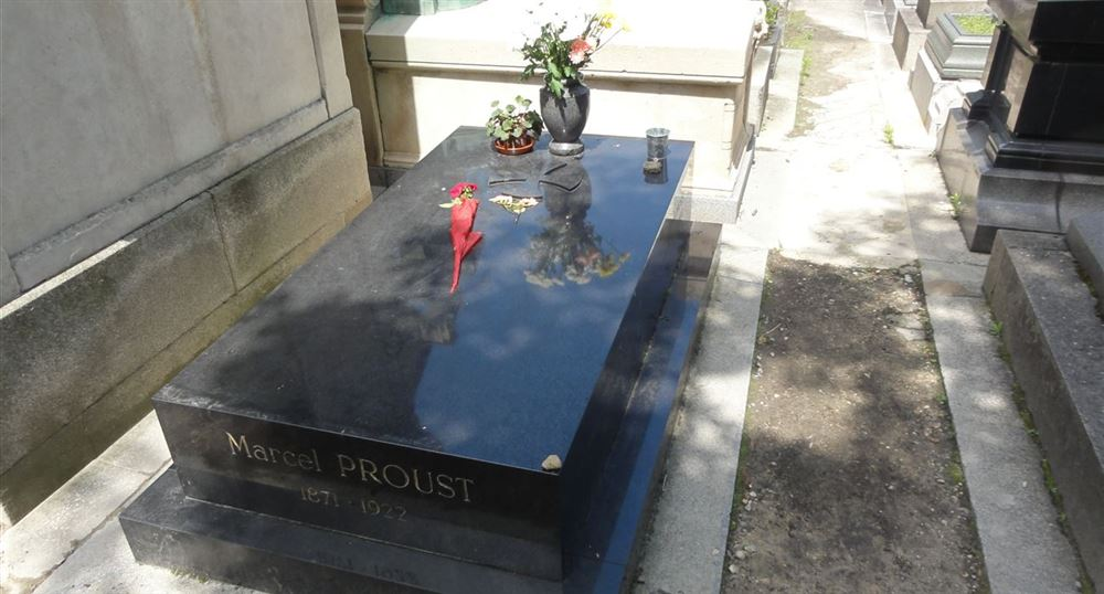 The grave of Marcel Proust