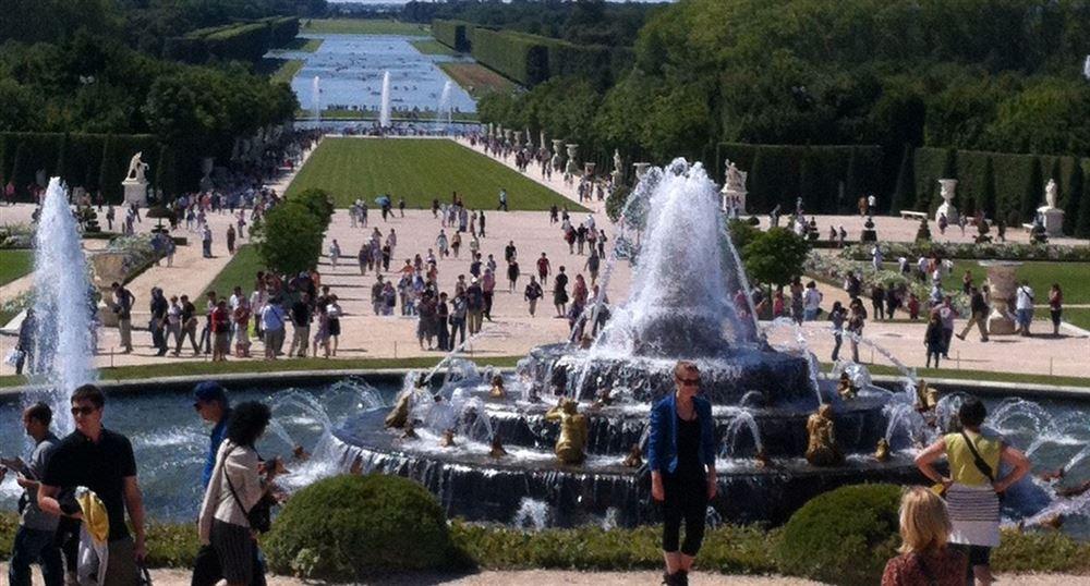 Le parc vu de la terrasse du Château