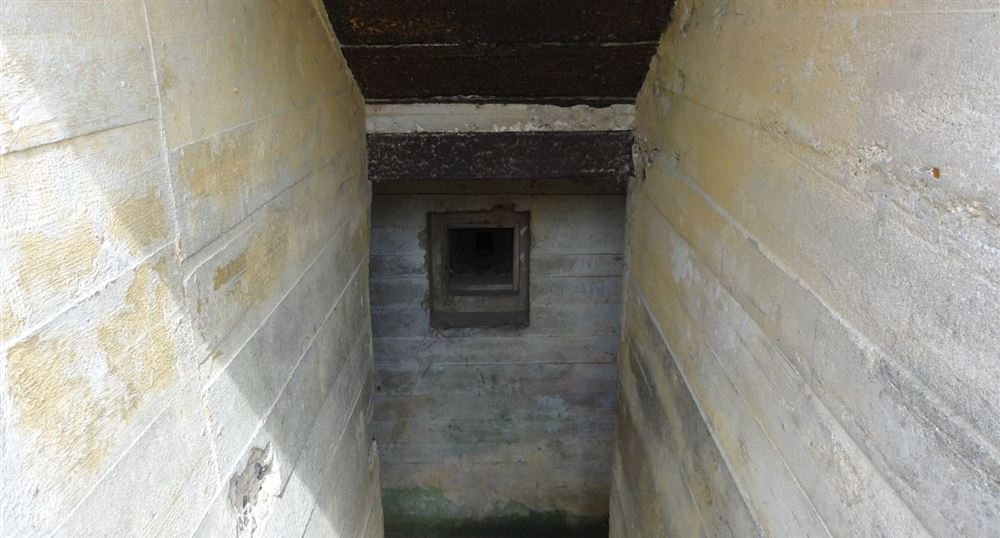 Entrance to a bunker