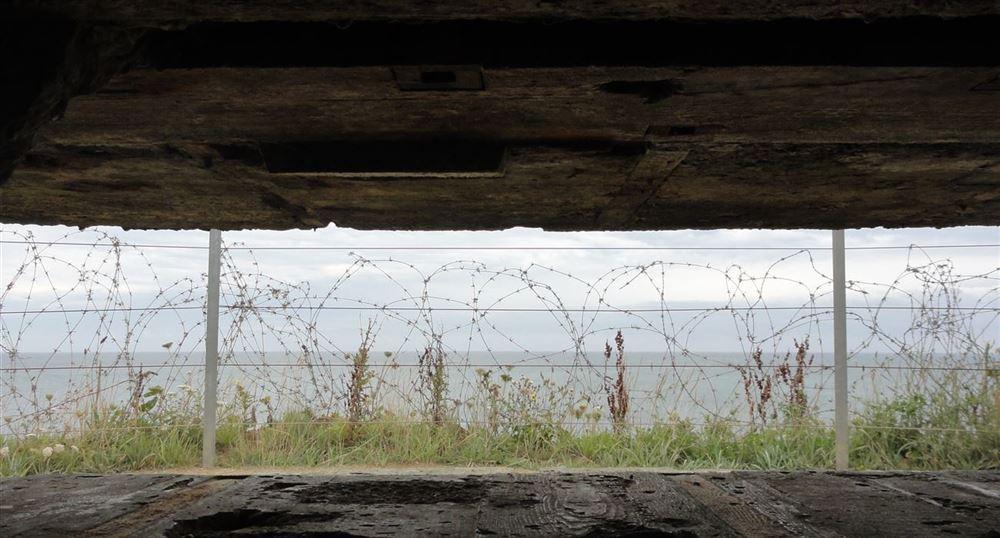 Vue de l'intérieur du bunker