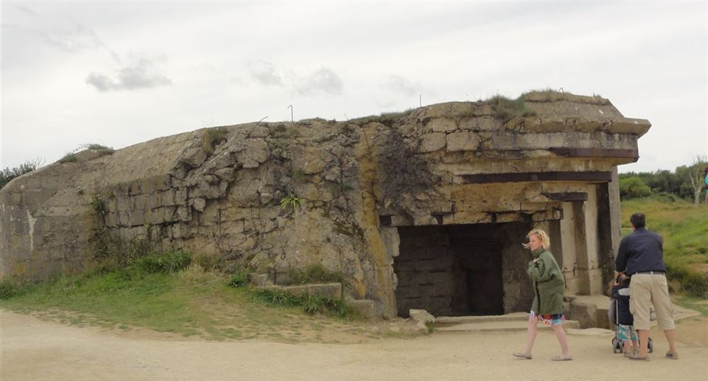 A bunker on the site