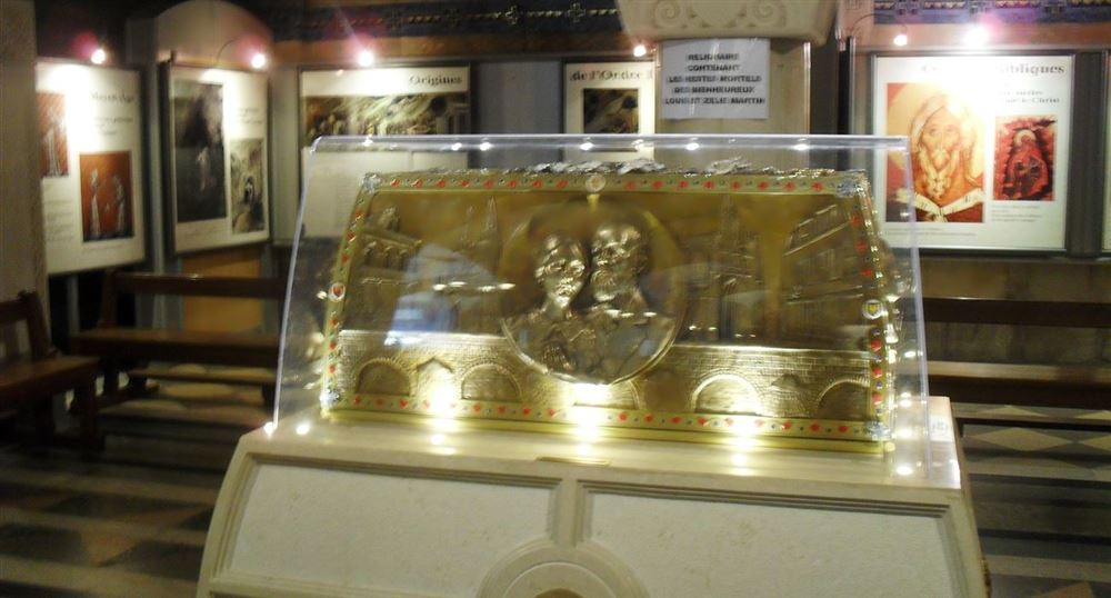 The parents of Saint Therese reliquary