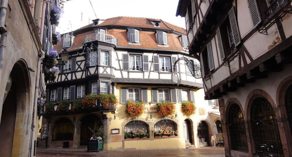 Alsatian house in the center of Colmar