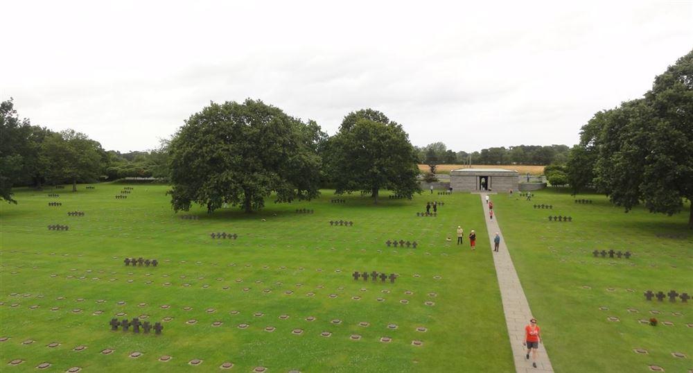 View of the La Cambe cemetery