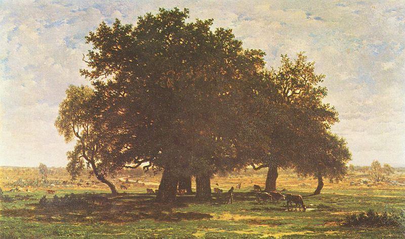 Les chênes d'Apremont de Théodore Rousseau