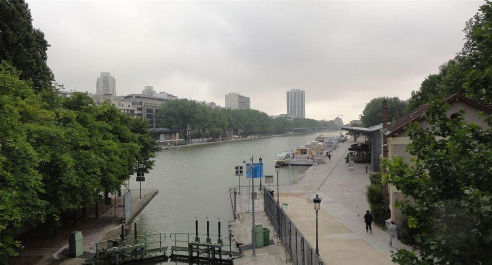 L'écluse du bassin de la Villette