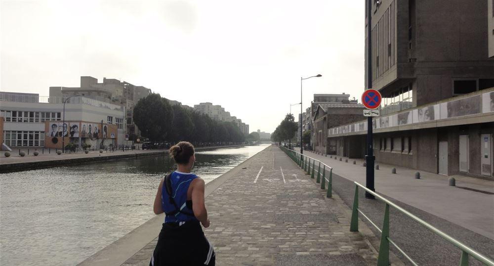 Le canal de l'Ourcq à Pantin