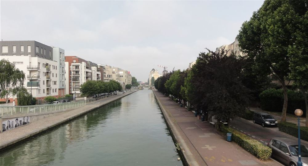 The canal in Pantin
