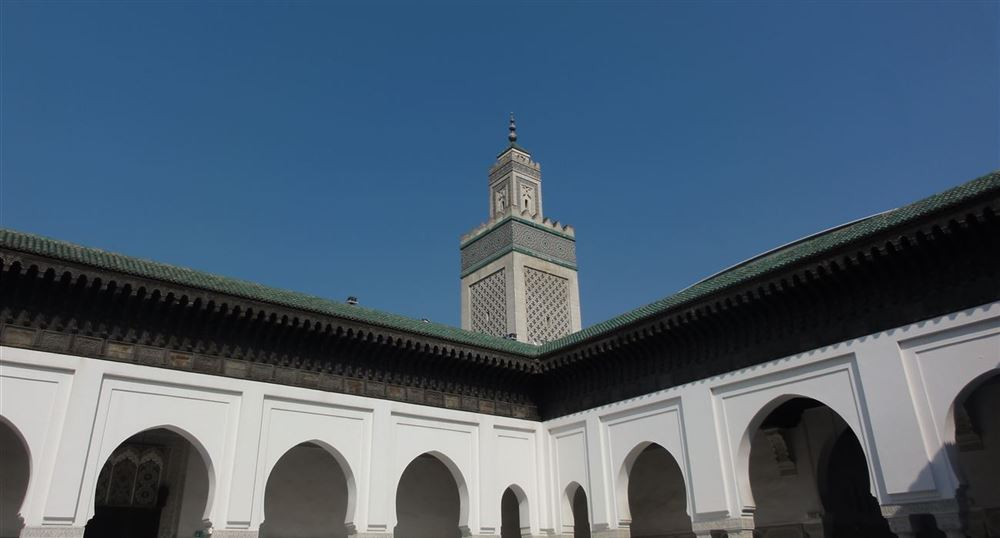 The large Patio and the minaret