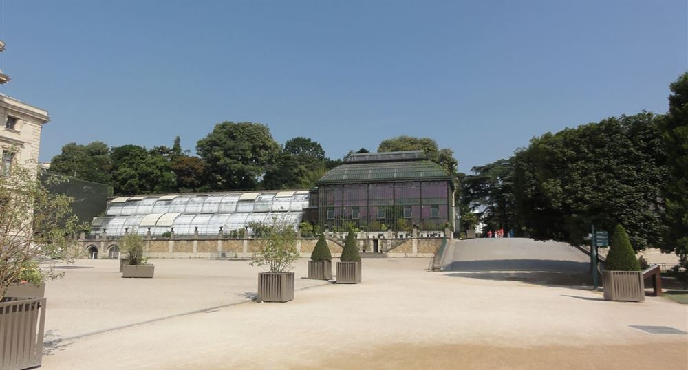 The large greenhouses of the Jardin des Plantes