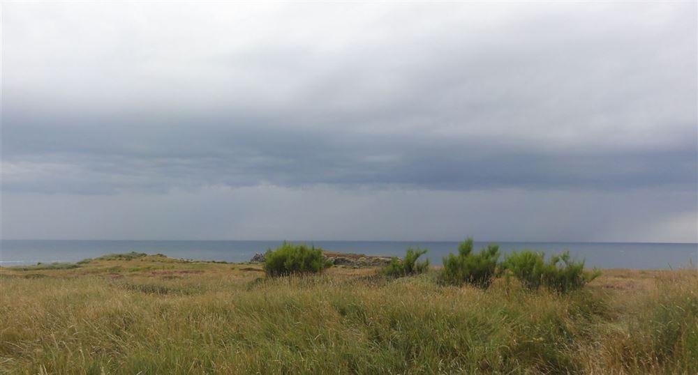 Lanscape over the Atlantic Ocean