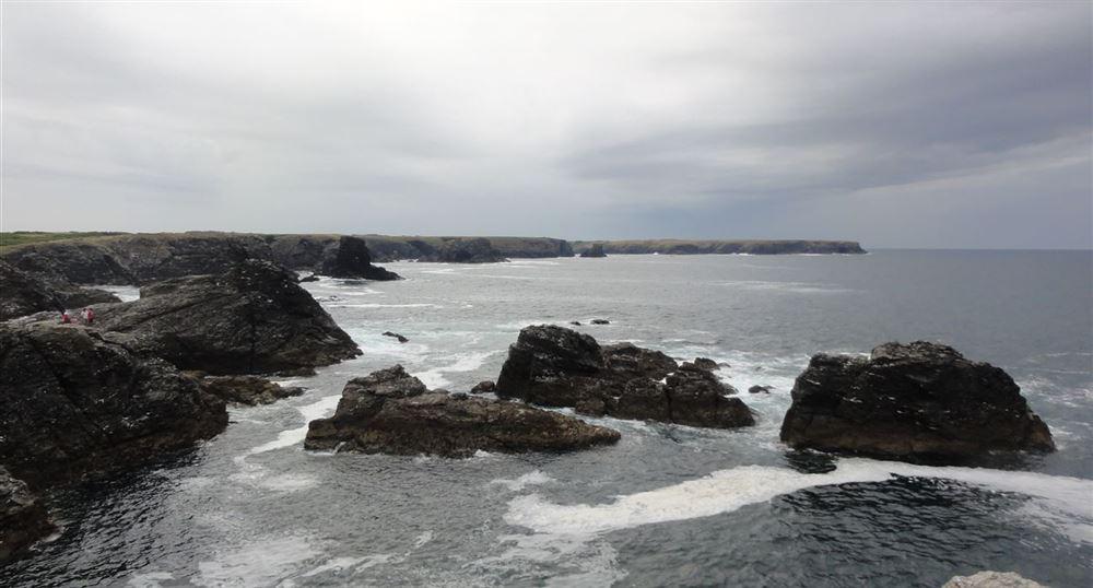 Les rochers de la pointe des Poulains