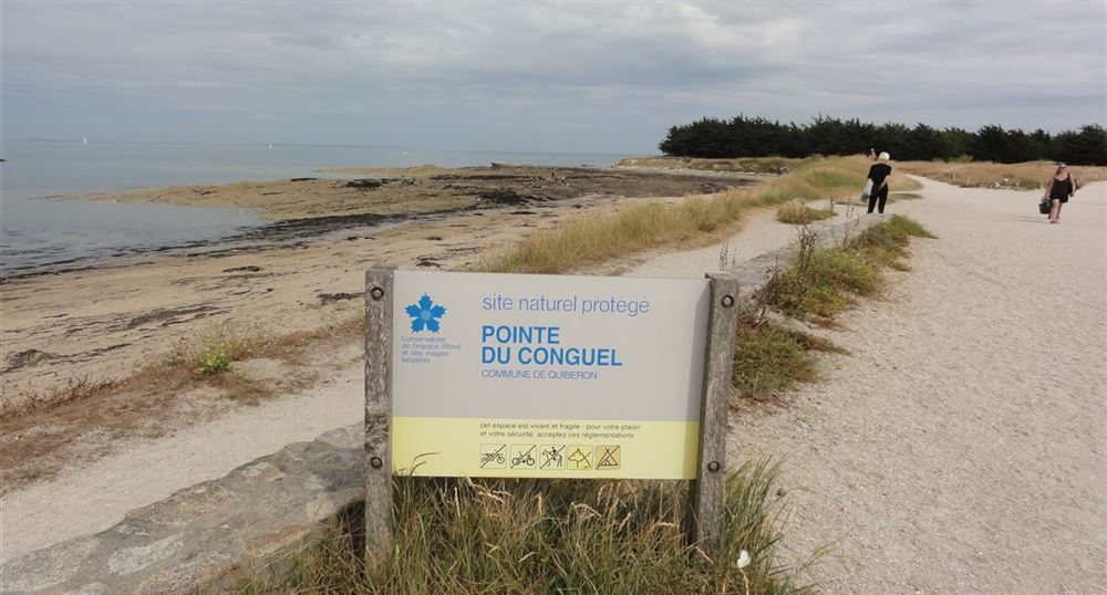 Sign for the tip of the Conguel