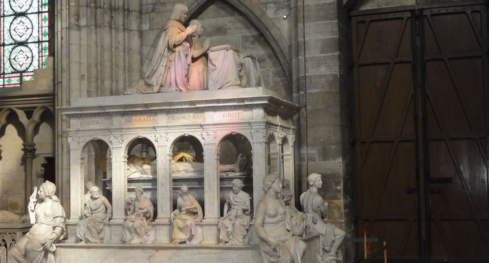 The tomb of Louis XII and Anne of Brittany