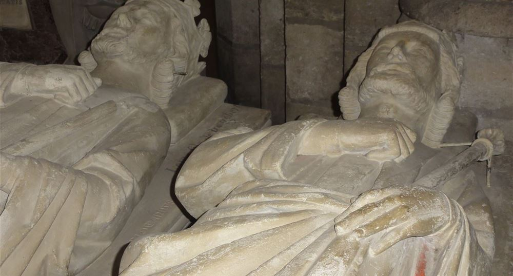 The recumbent figure of Charles Martel