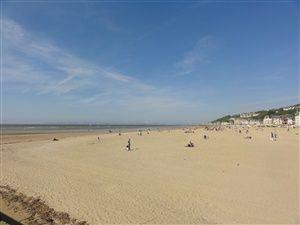 Promenade à Trouville-sur-Mer en Normandie