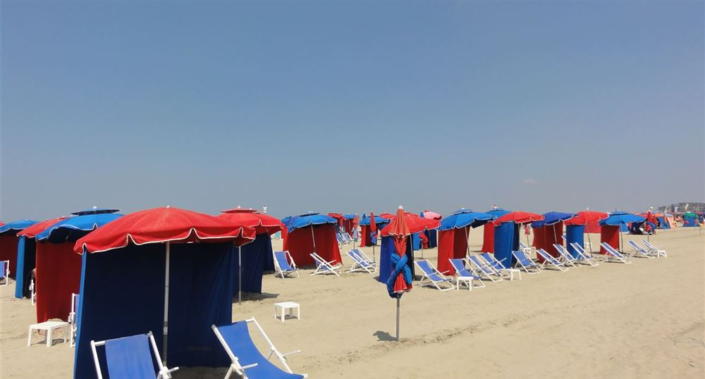 The famous umbrellas of Deauville