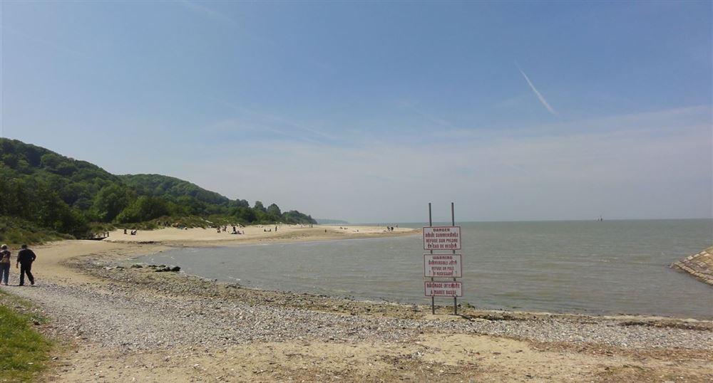 Le début de la plage