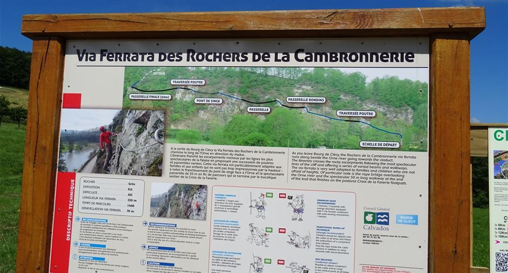 The via ferrata of the Cambronnerie