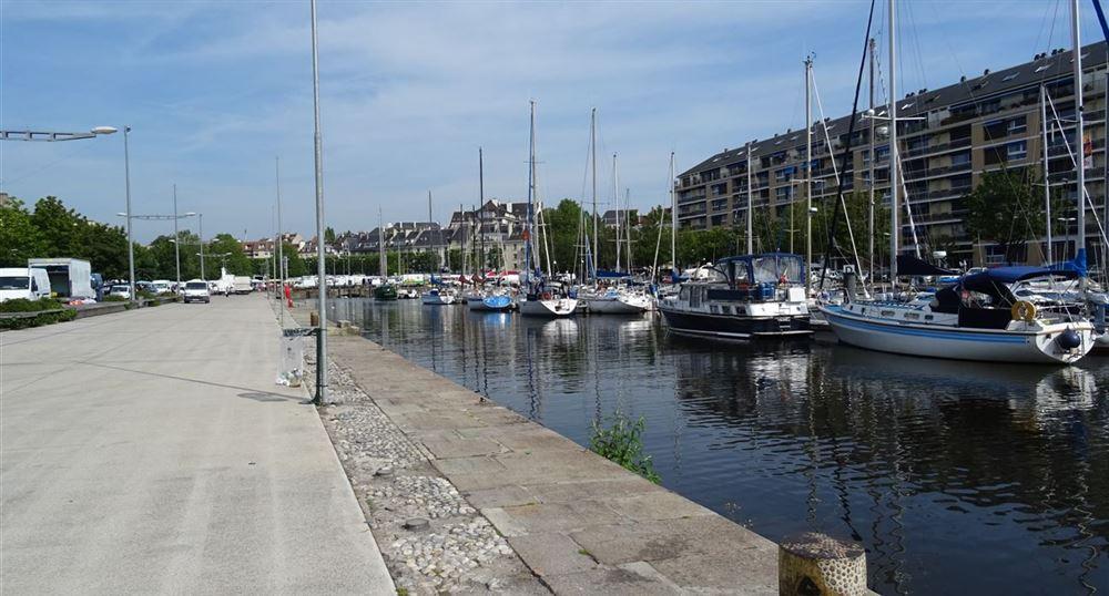 The port of Caen