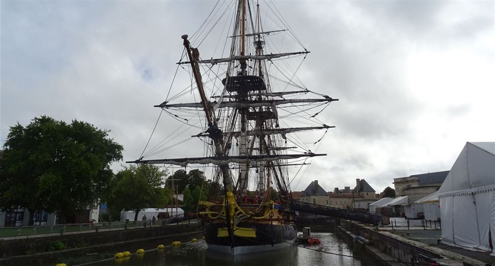 The Hermione in its basin