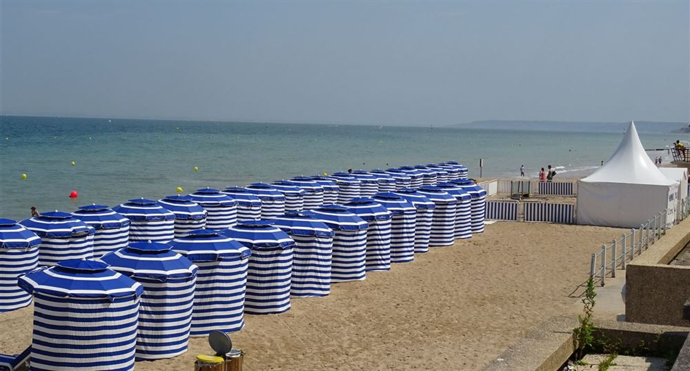 The Cabourg beach