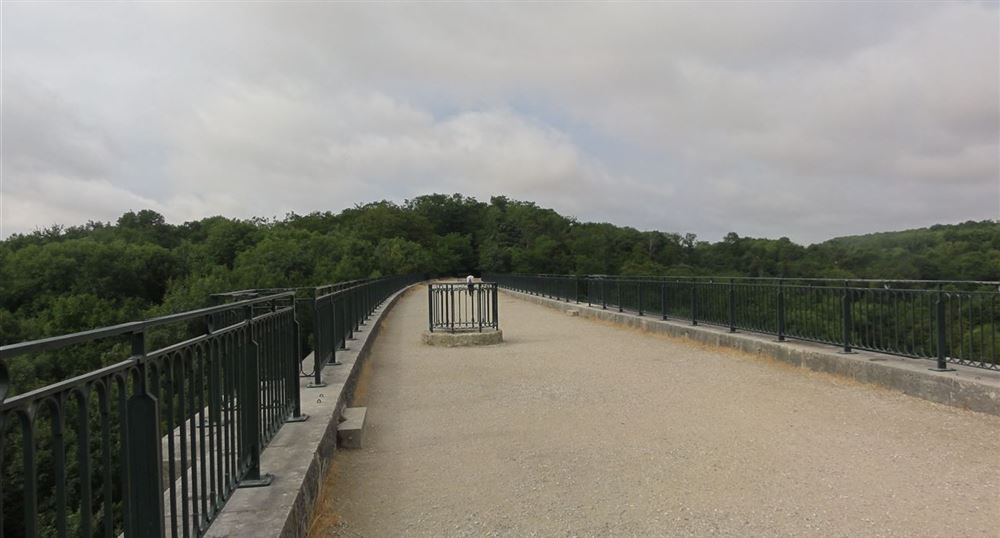 The top of the viaduct