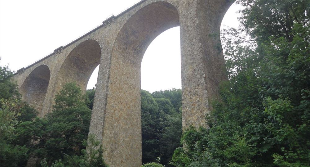 The viaduct seen from below