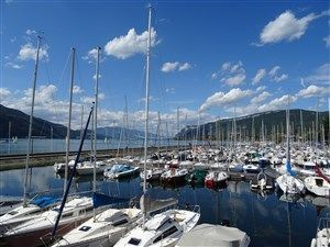 The Lake Bourget at Aix-les-Bains