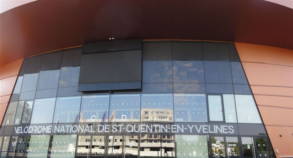 The entrance of the Velodrome.