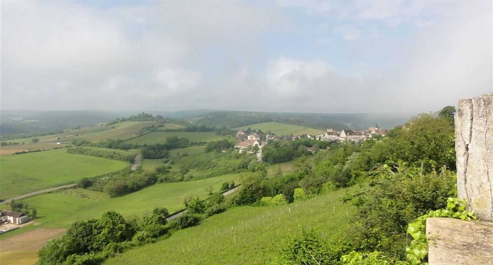 View of the Burgundian countryside